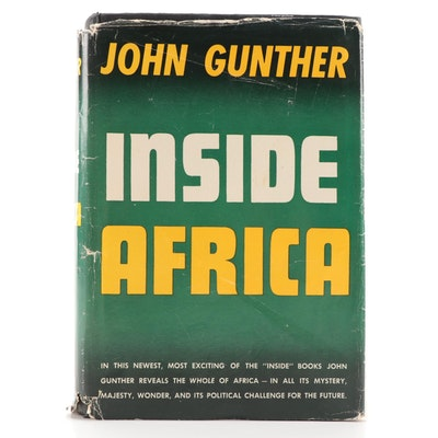"""""""Inside Africa"""" by John Gunther with Dust Jacket, 1955"""