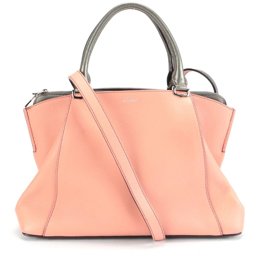 Cartier Bicolor Leather Two-Way Handbag