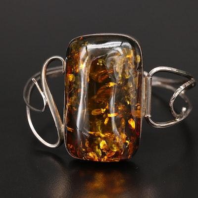 Russian Sterling Amber Bracelet