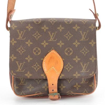 Louis Vuitton Cartouchiere MM Crossbody in Monogram Canvas and Vachetta Leather
