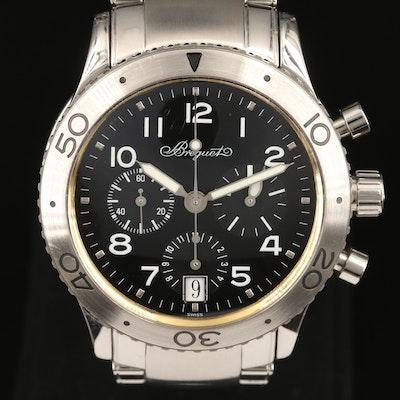 Breguet Type XX Transatlantique Stainless Steel Automatic Wristwatch