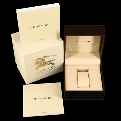 Burberry Box with Instruction Manual and Warranty Card with Booklet