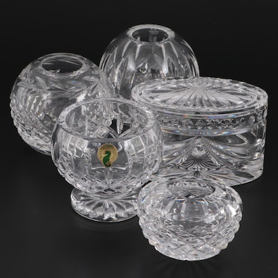 """Waterford Crystal """"Overture"""" Box with Waterford """"Lismore"""" and Other Bowls"""