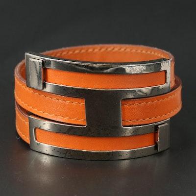 """Hermès """"Pousse Pousse"""" Leather Bracelet"""