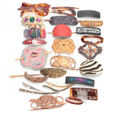 Wooden, Leather, Embellished and Other Hair Accessories