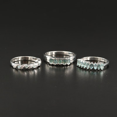 Sterling Silver Alexandrite Bands