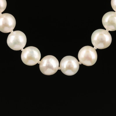 Pearl Choker Length Necklace