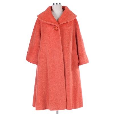 Lilli Ann Three-Quarter Sleeve French Mohair Swing Coat, 1960s