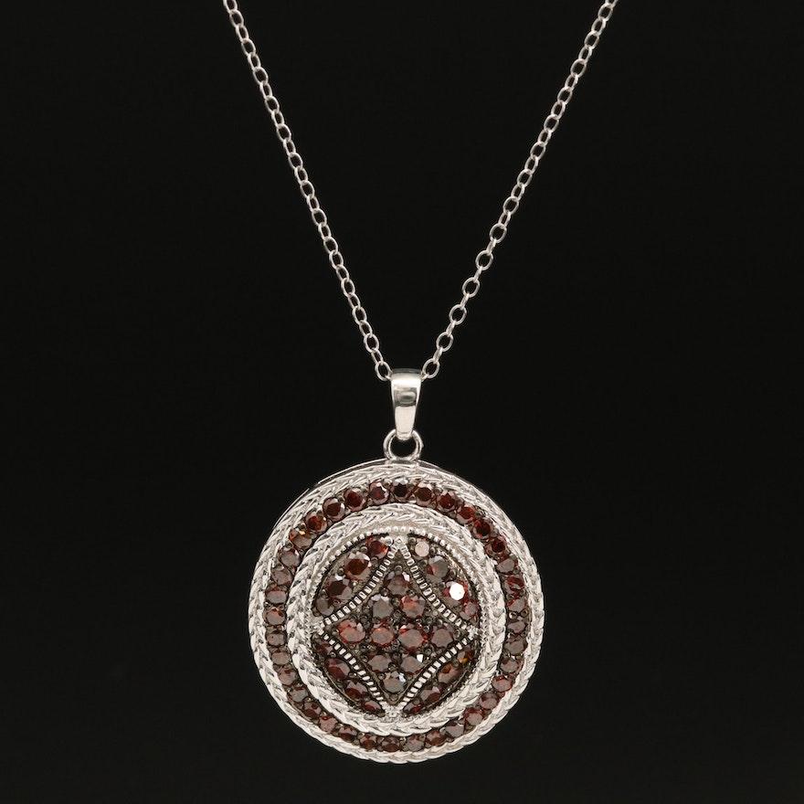 Sterling Silver 2.00 CTW Diamond Pendant Necklace