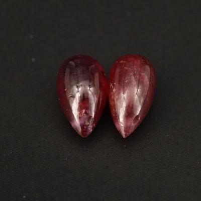 Loose Pear Drop Corundum Beads
