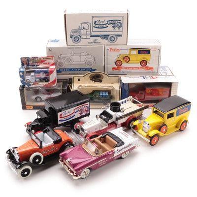 Ertl and Liberty Classics Diecast Metal Coin Banks, and Diecast Vehicles