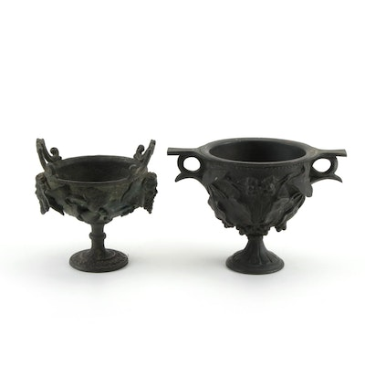 Neoclassical and Rococo Style Bronze Footed Planters
