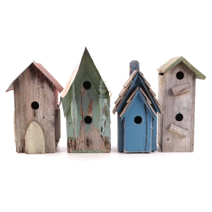 Victorian Style Copper Top and Other Bird Houses
