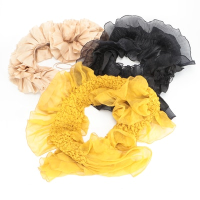 Ruffian, Nordstrom and Other Ruffled and Pleated Scarves