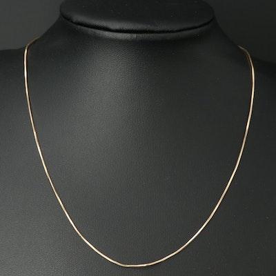 Italian 14K Snake Chain Necklace