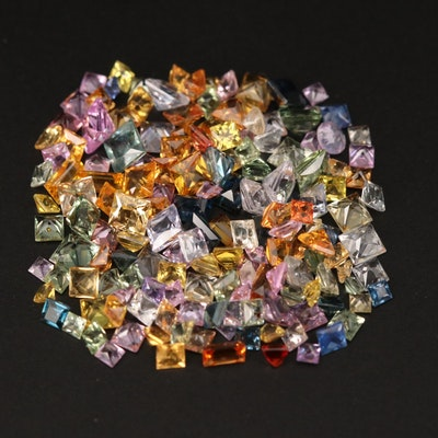 Loose Square Faceted and Baguette Cut Sapphires