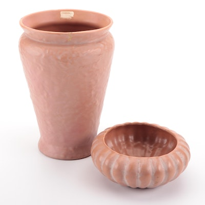 Haeger Pottery Ceramic Vase and Bowl, Mid to Late 20th Century