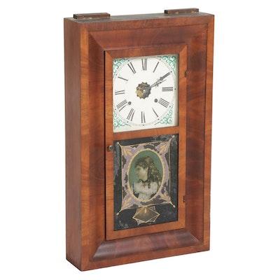 Waterbury Mahogany Ogee Mantel Clock, Mid-19th Century