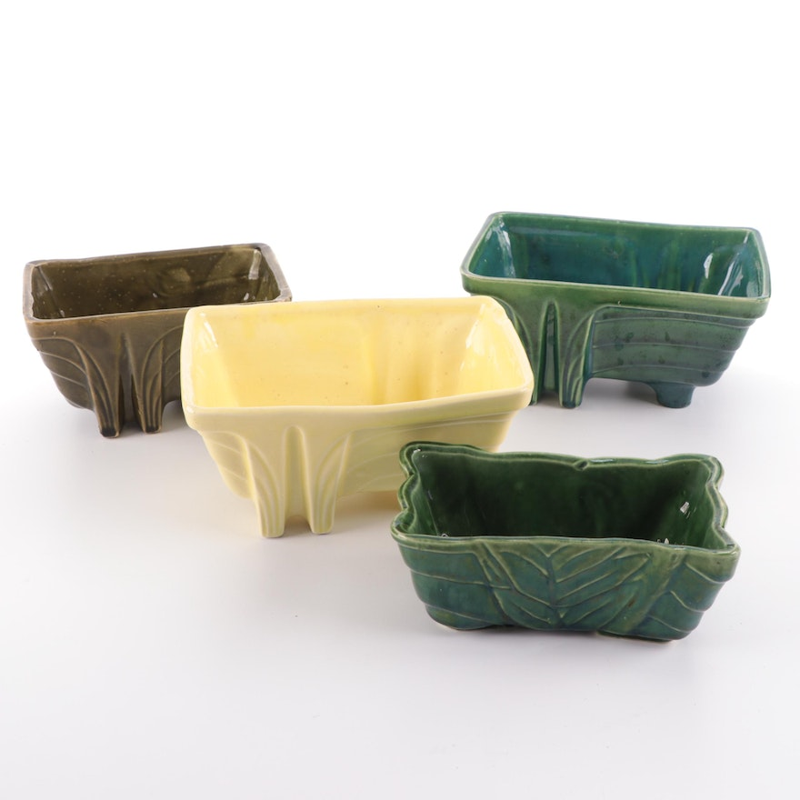 Sebring/Stanford Pottery and Others Four Glazed Ceramic Planters