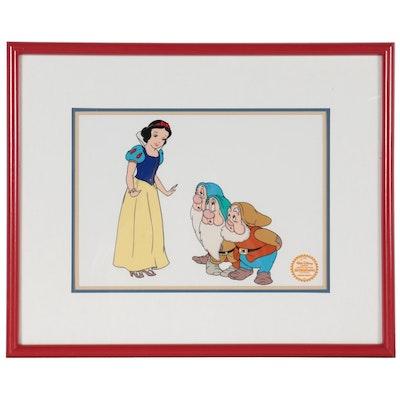 """The Walt Disney Company Sericel """"Snow White and 3 Dwarfs"""""""