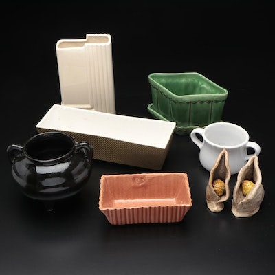 McCoy, Shawnee, and Other Ceramic Planters, Mid-20th Century