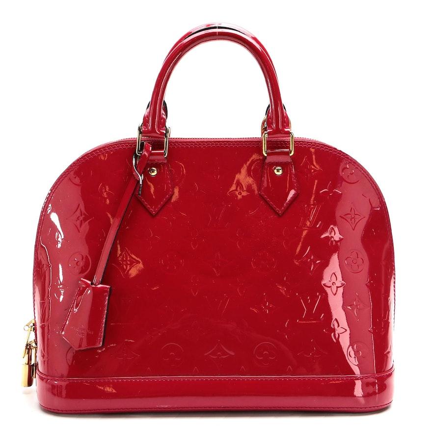 Louis Vuitton Alma Bag in Pomme D'amour Monogram Vernis