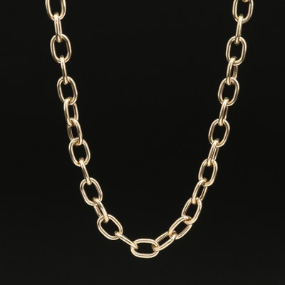 Italian 14K Cable Chain Necklace
