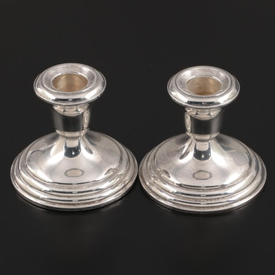 Revere Silversmiths Weighted Sterling Silver Candle Holders