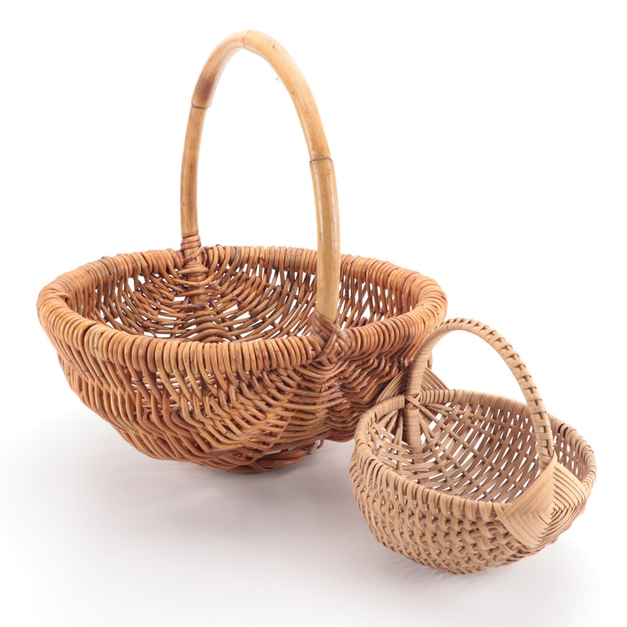 Wicker and Cane Egg Baskets