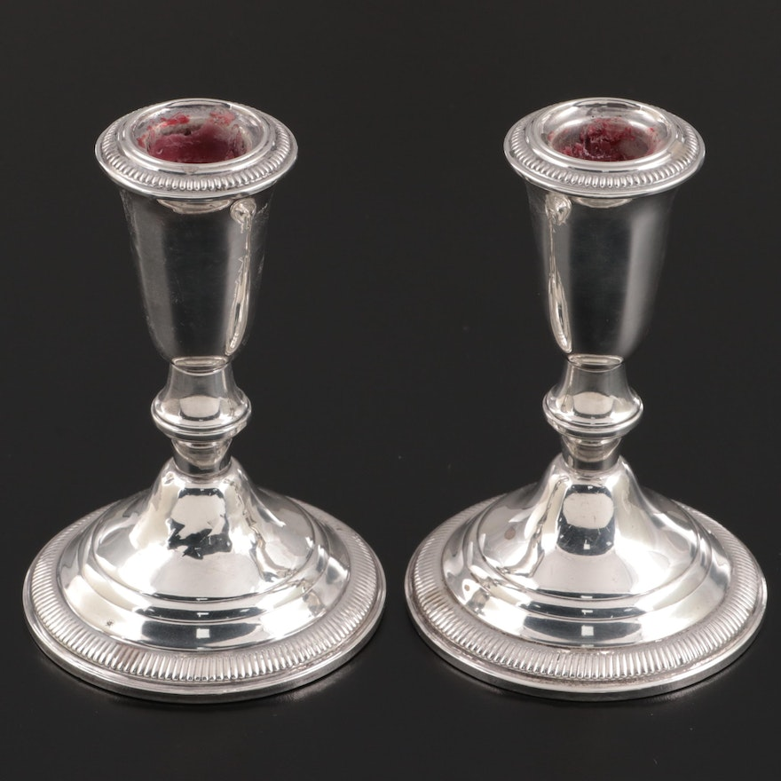 Empress Weighted Sterling Silver Candle Holders