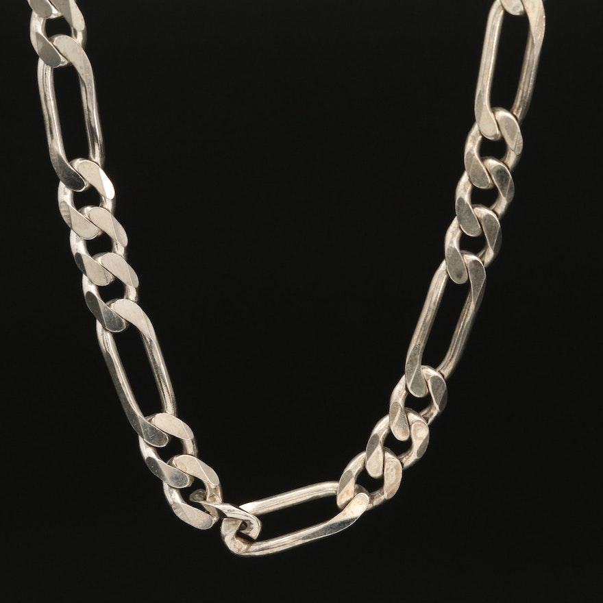 Italian Sterling Figaro Link Chain