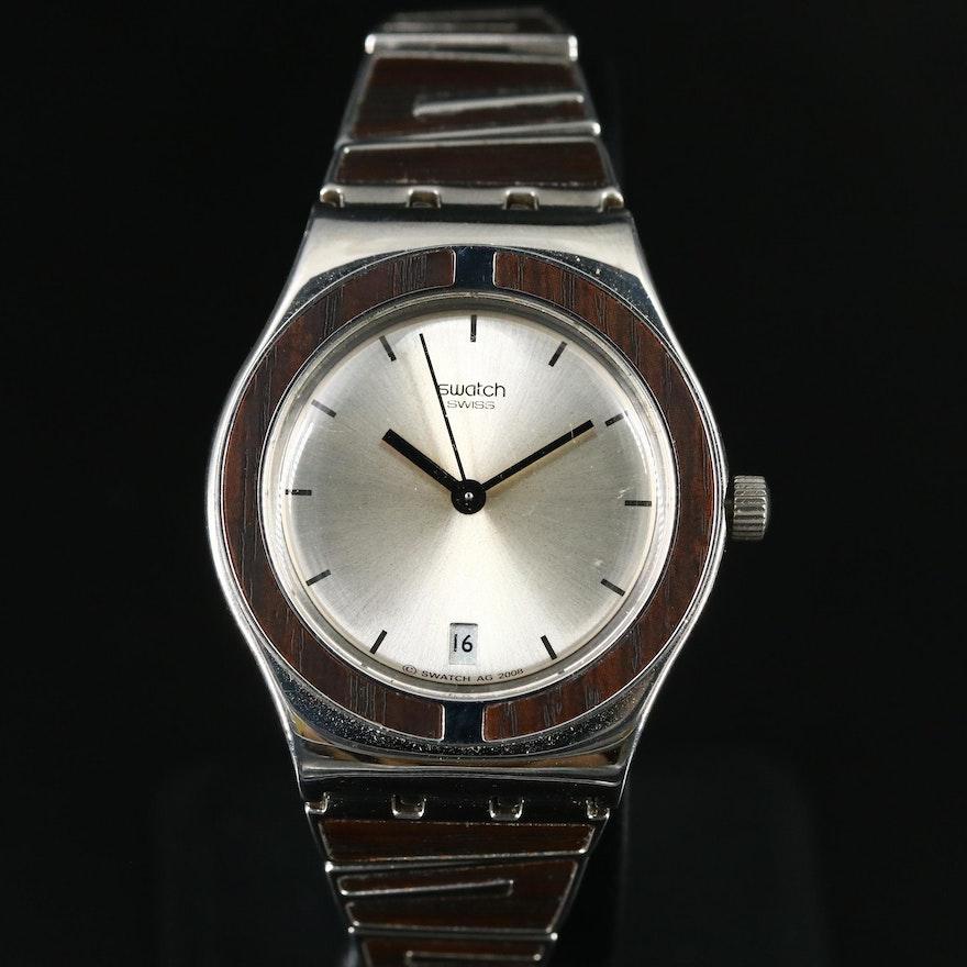 Swatch Irony Wood Inlaid Wristwatch