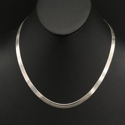 Italian Sterling Herringbone Necklace