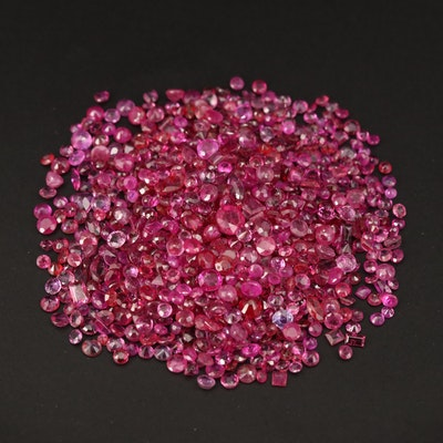 Loose 56.73 CTW Mixed Faceted Rubies