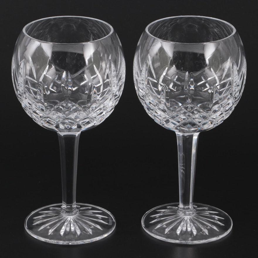 """Pair of Waterford """"Araglin"""" Crystal Wine Glasses"""