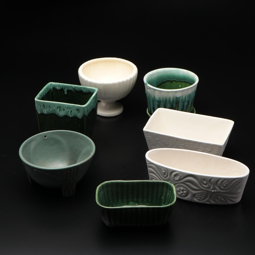 McCoy, Upco and Others Glazed Ceramic Planters, Mid to Late 20th Century