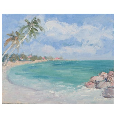 Sean Wu Seaside Oil Painting, 2021
