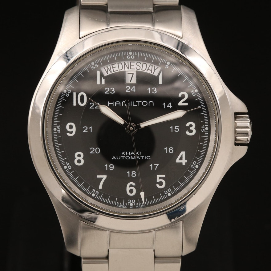 "Hamilton ""Khaki Field King"" Stainless Steel Automatic Wristwatch"
