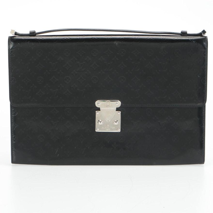 Louis Vuitton Glace Anouchka GM Clutch Bag in Black Mini Monogram