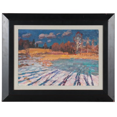 "Evgeni Pikalov Landscape Oil Painting ""March"""