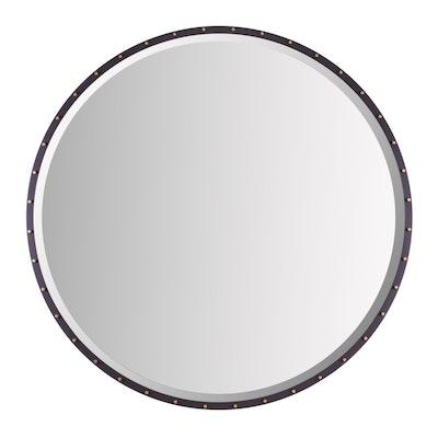 """Uttermost """"Benedo"""" Iron Wall Mirror"""