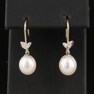 """Paloma Picasso for Tiffany & Co. """"Olive Leaf"""" Pearl Earrings"""