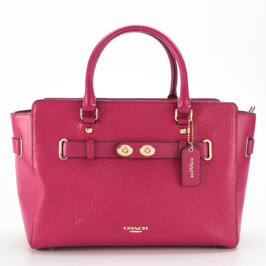 Coach Blake Carryall Bag in Fuchsia Bubble and Smooth Leather