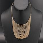 Italian 14K Draped Chain Collar Necklace