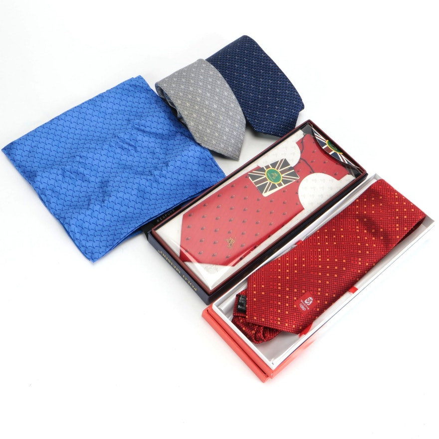 2008 Beijing Olympics Souvenir Tie with David Chu and Other Neckwear