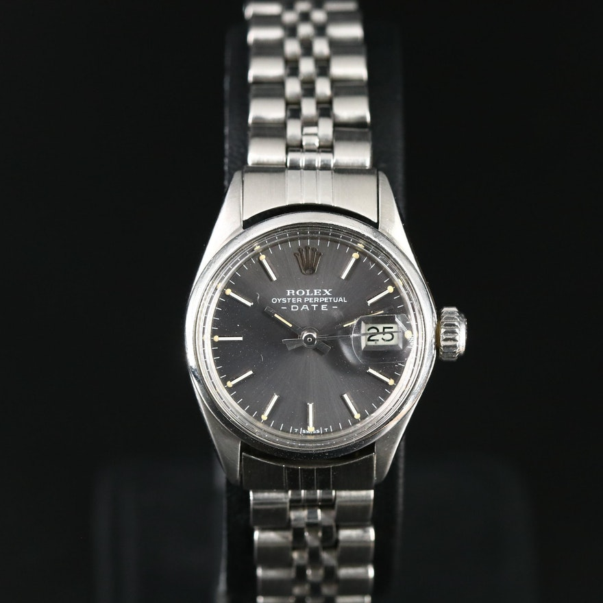 1971 Rolex Date Stainless Steel Automatic Wristwatch