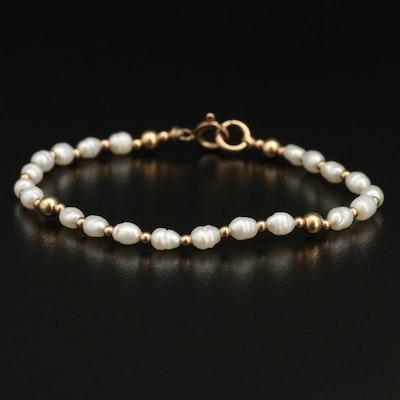 Gold Filled Pearl Bracelet