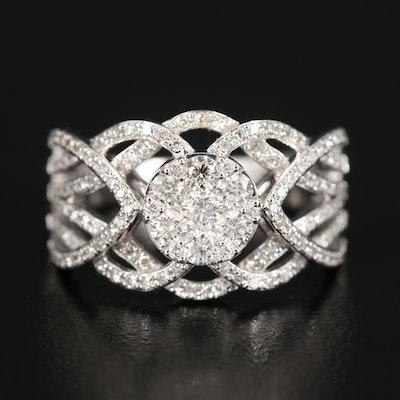 EFFY 14K Diamond Openwork Cluster Ring