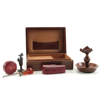 Mike Fitz Handcrafted Rosewood Pocket Watch Holder with Compass and More