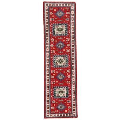 2'9 x 9'11 Hand-Knotted Indo-Caucasian Kazak Carpet Runner, 2010s